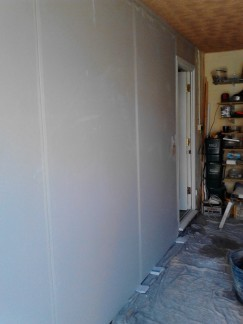 Plastering – Converted garage