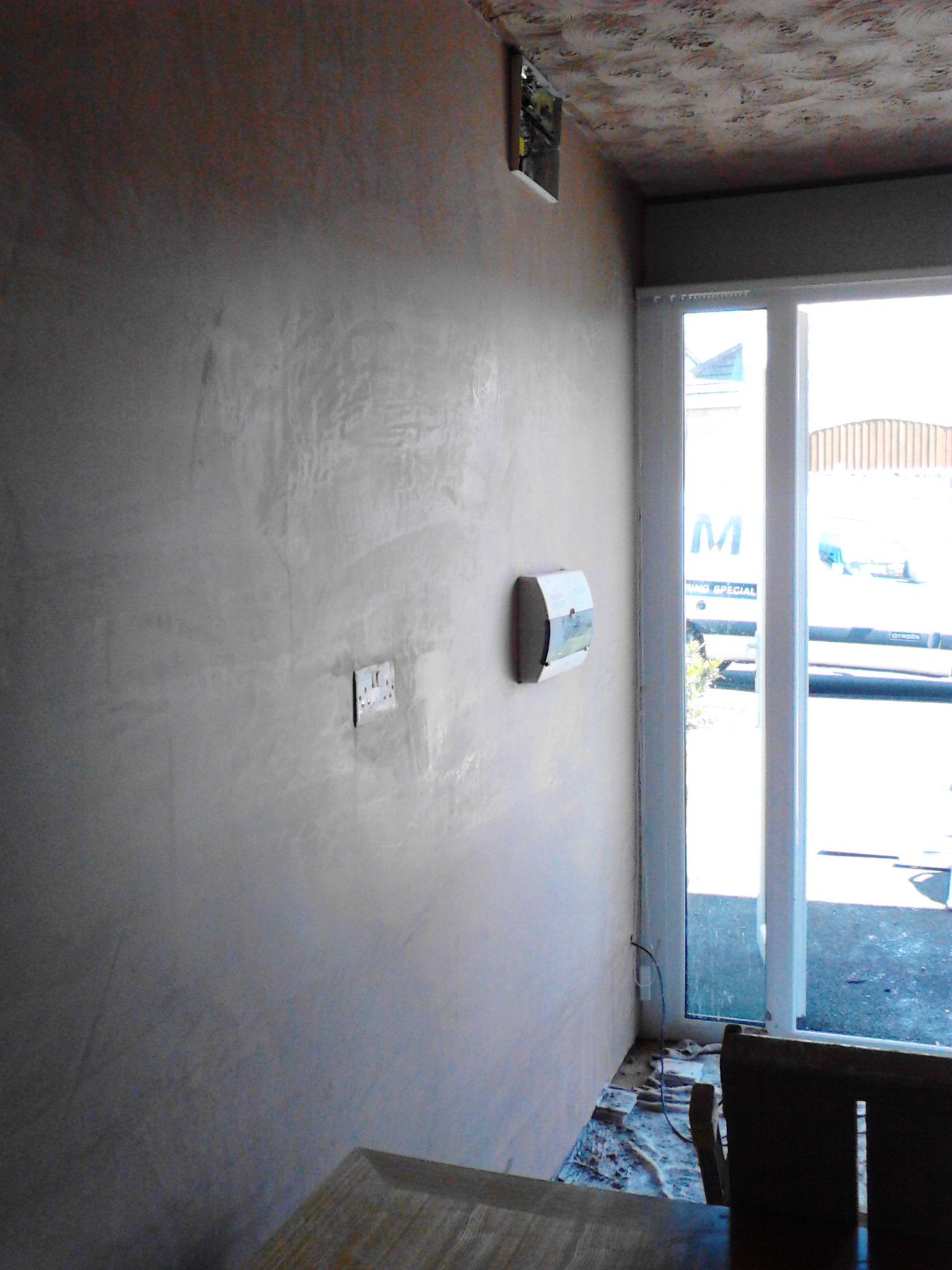 Plastering – Converted garage banner 4