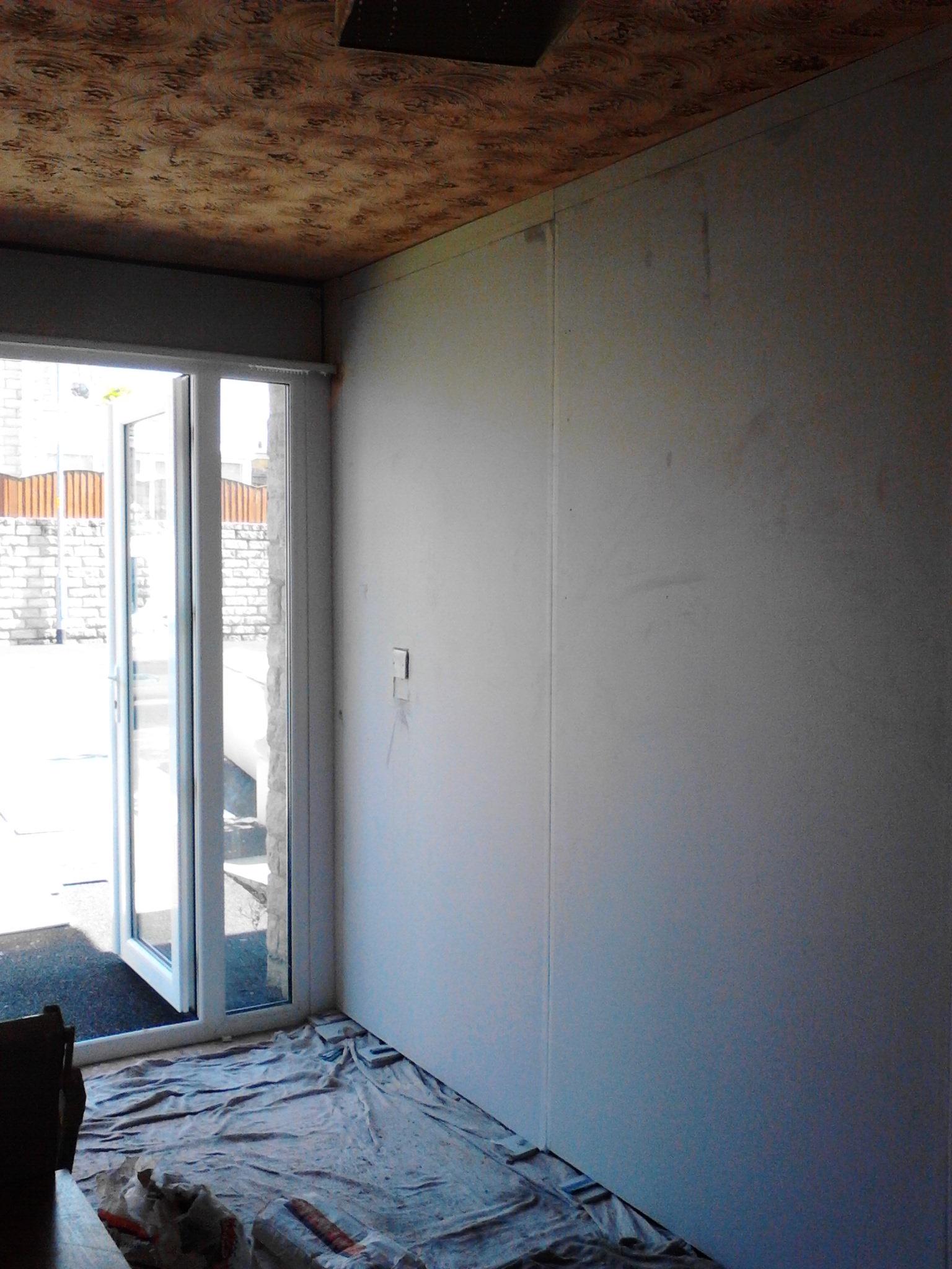 Plastering – Converted garage banner 1